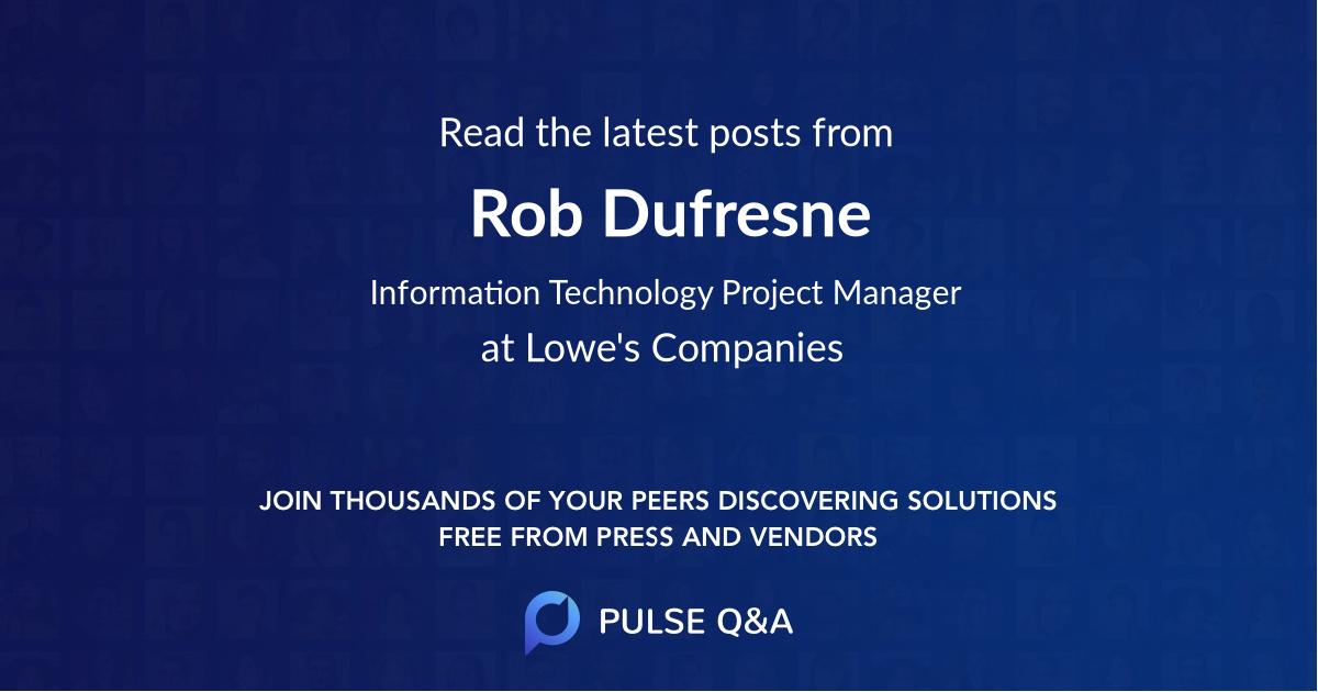 Rob Dufresne