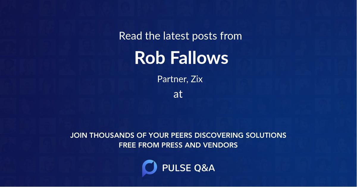 Rob Fallows