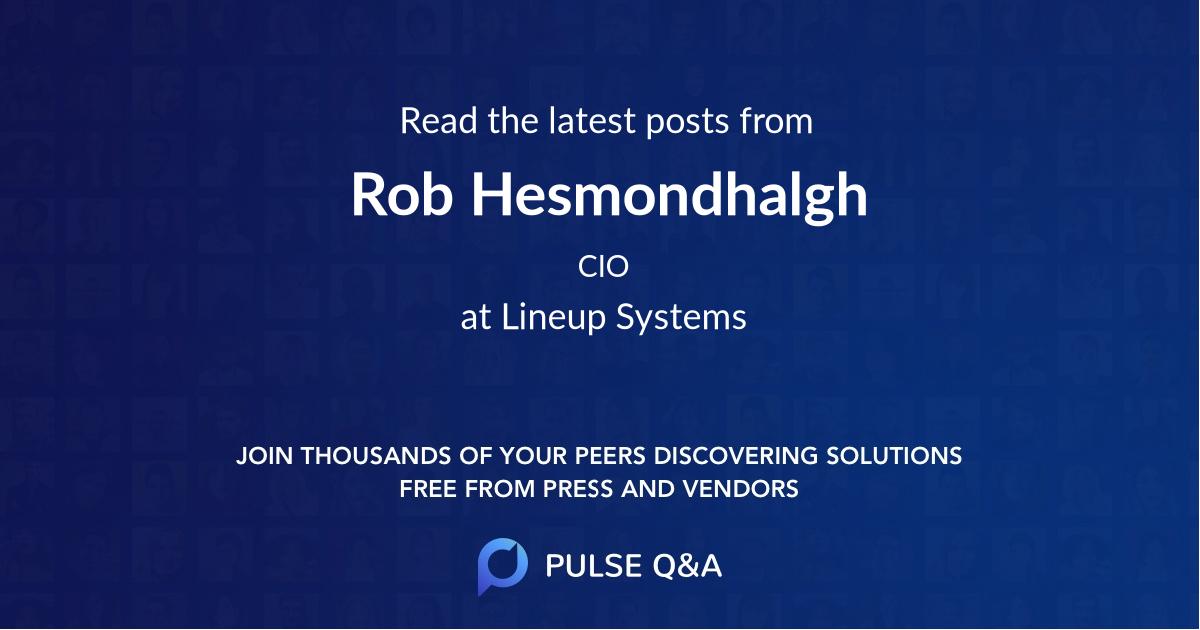 Rob Hesmondhalgh