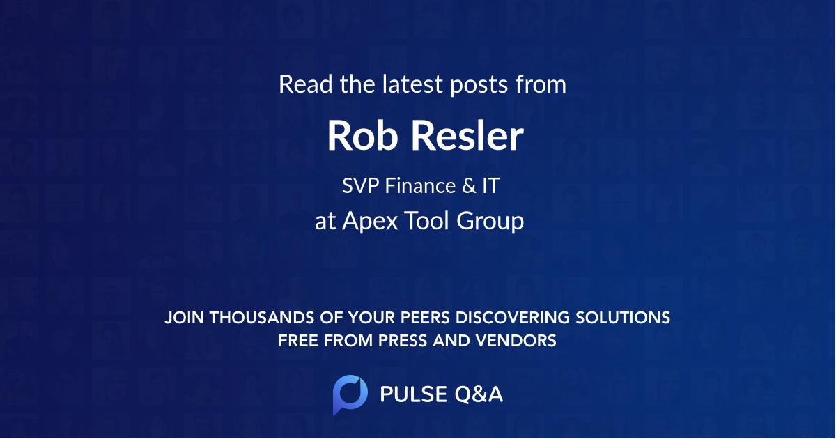 Rob Resler