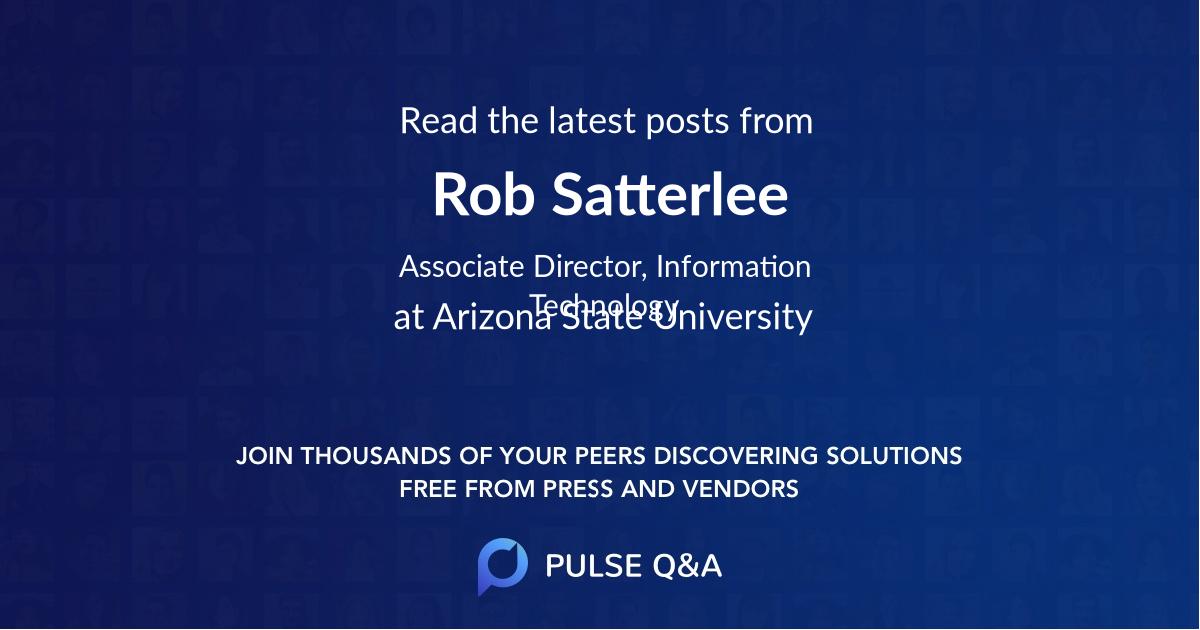 Rob Satterlee