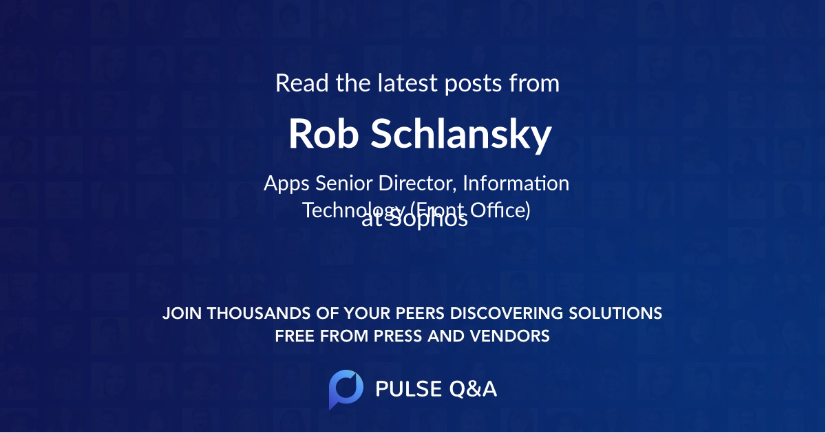 Rob Schlansky