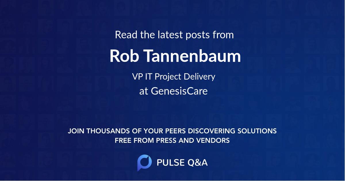 Rob Tannenbaum