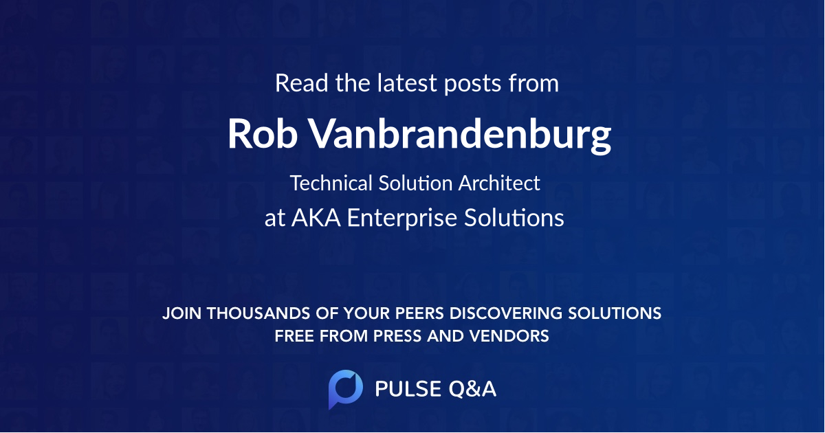 Rob Vanbrandenburg