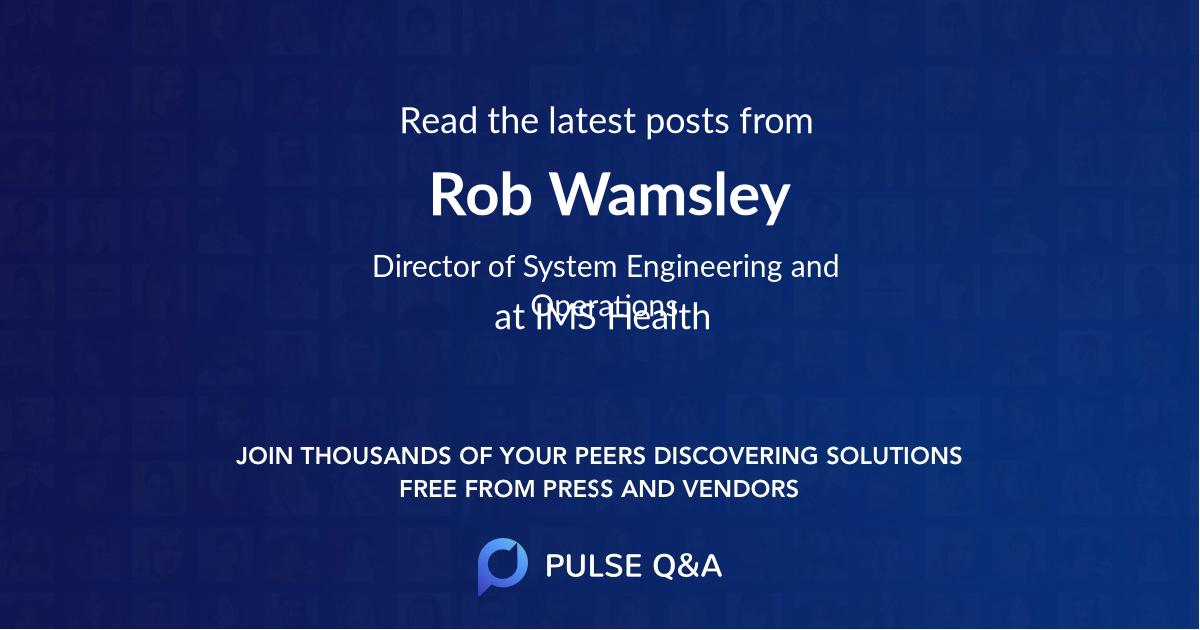 Rob Wamsley