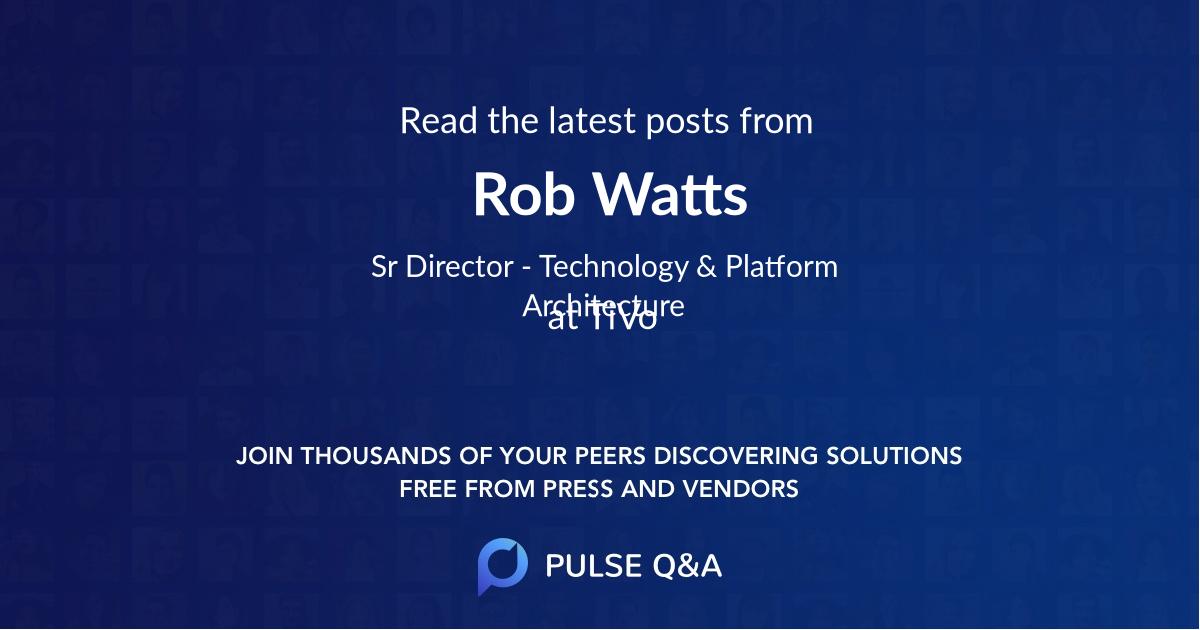 Rob Watts