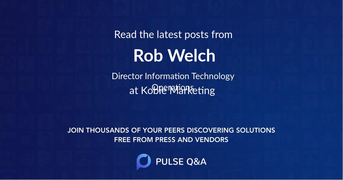 Rob Welch