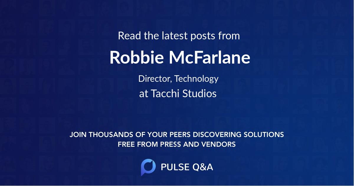 Robbie McFarlane