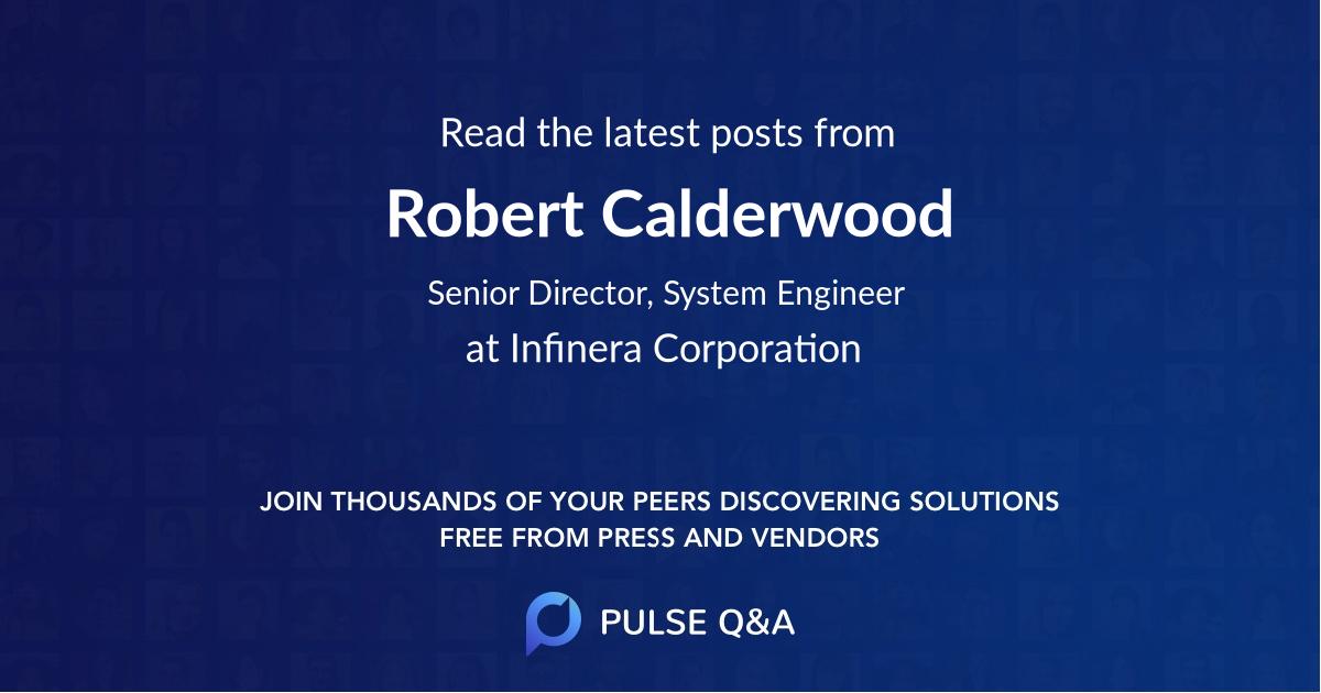 Robert Calderwood