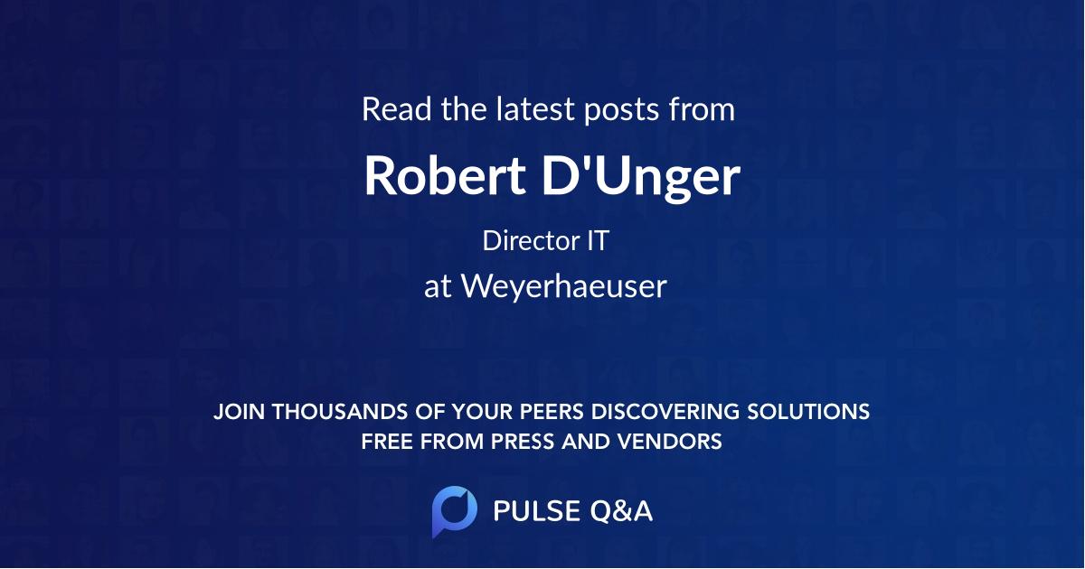 Robert D'Unger