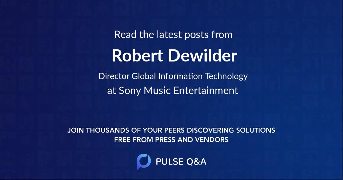 Robert Dewilder