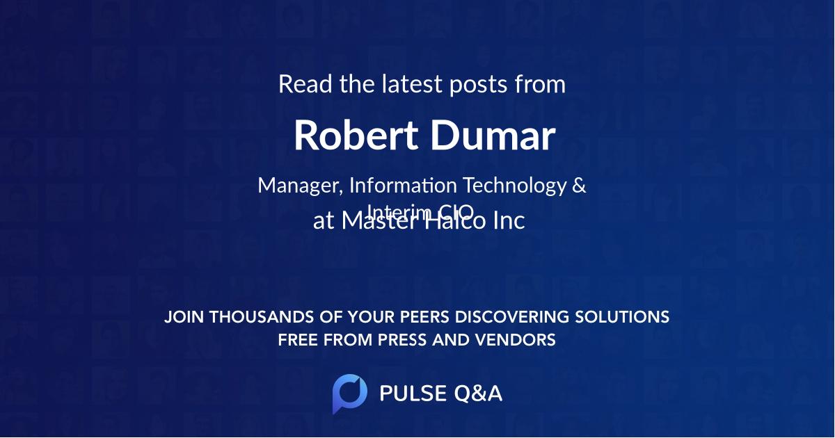 Robert Dumar