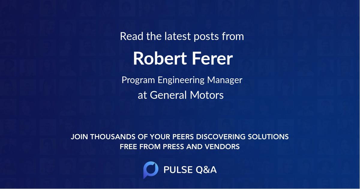 Robert Ferer