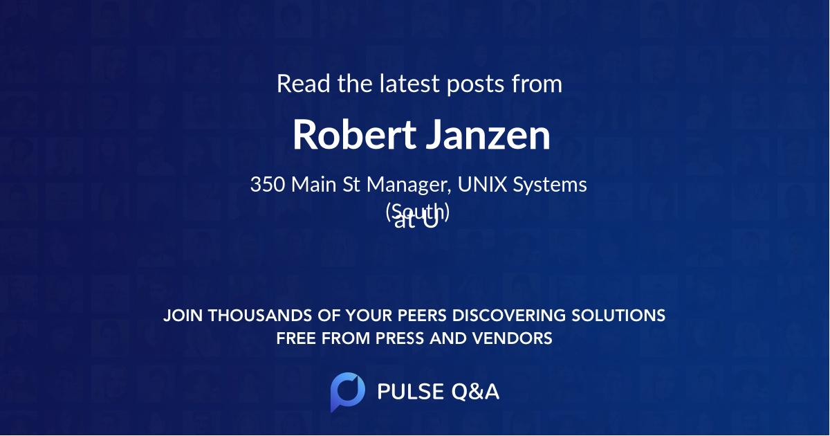 Robert Janzen