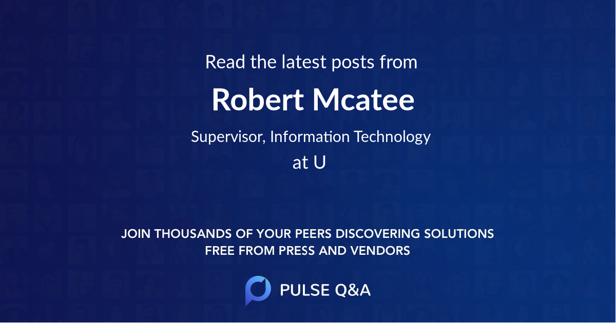 Robert Mcatee