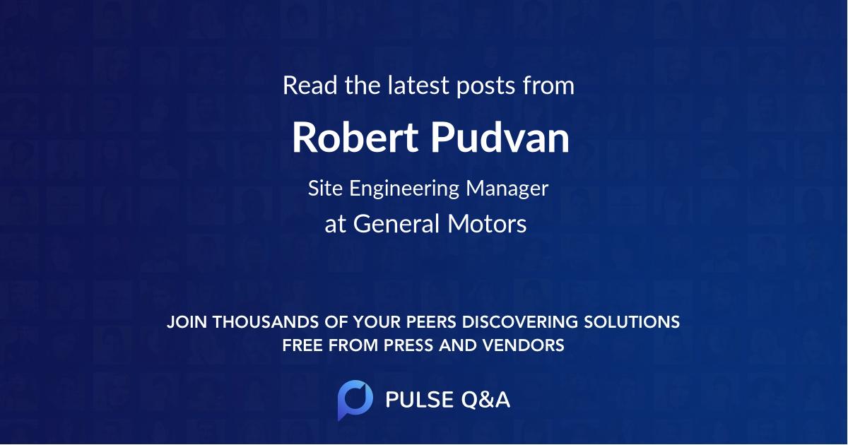 Robert Pudvan