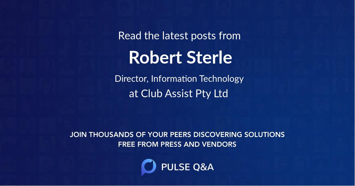 Robert Sterle
