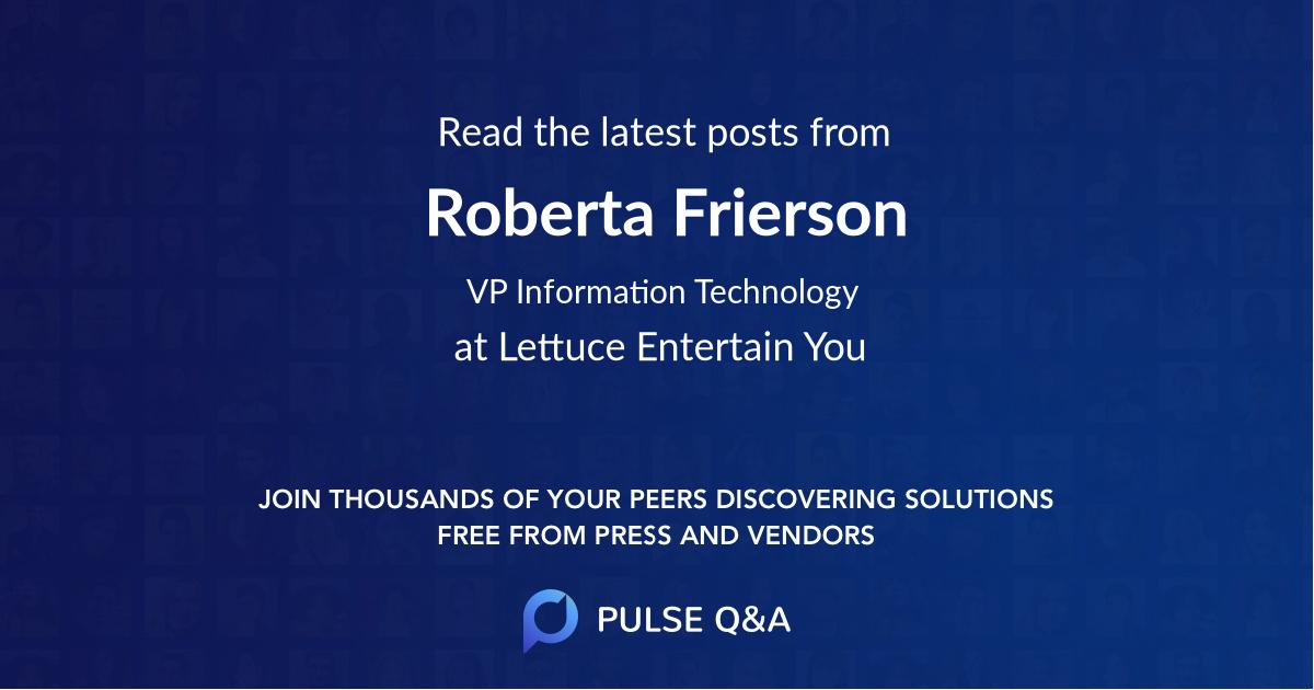 Roberta Frierson