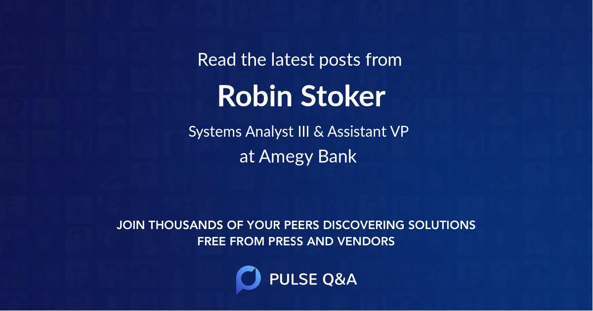 Robin Stoker