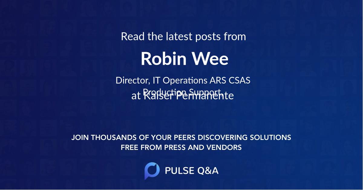 Robin Wee