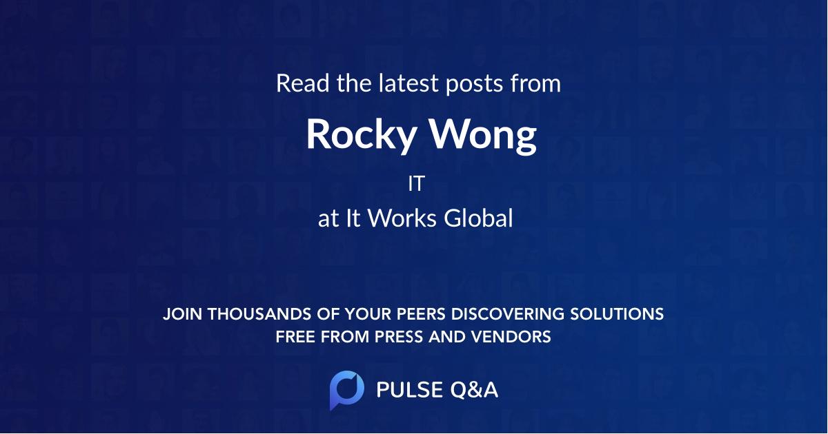 Rocky Wong