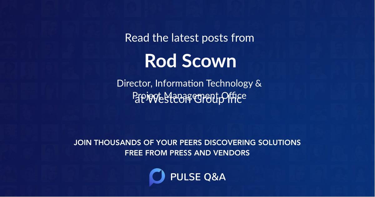 Rod Scown