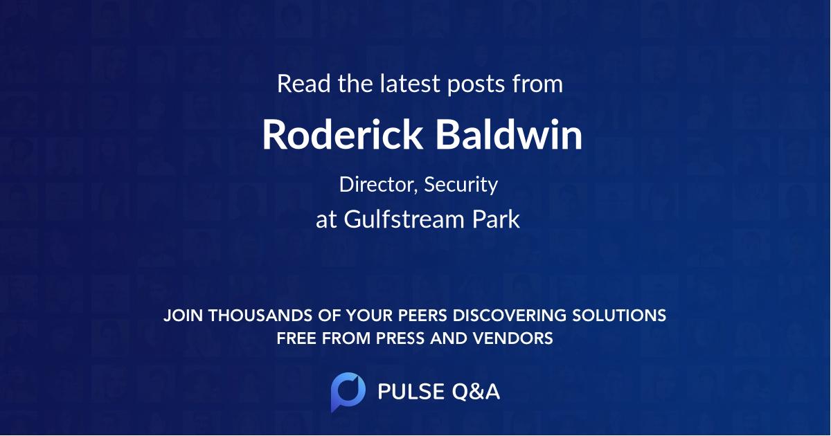 Roderick Baldwin