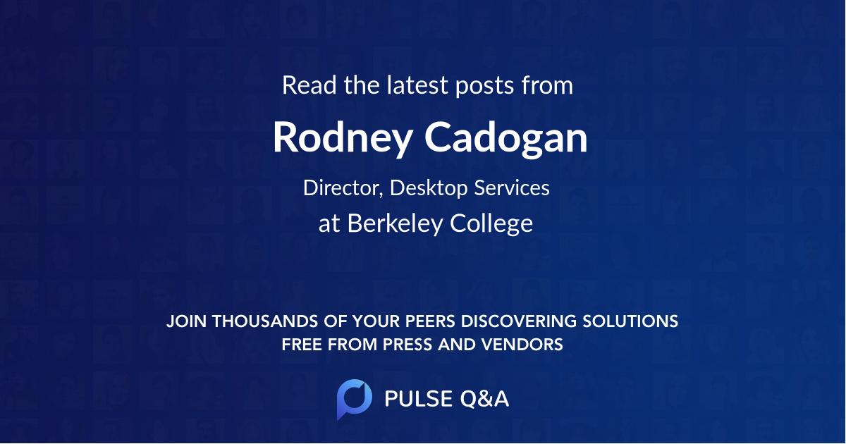 Rodney Cadogan