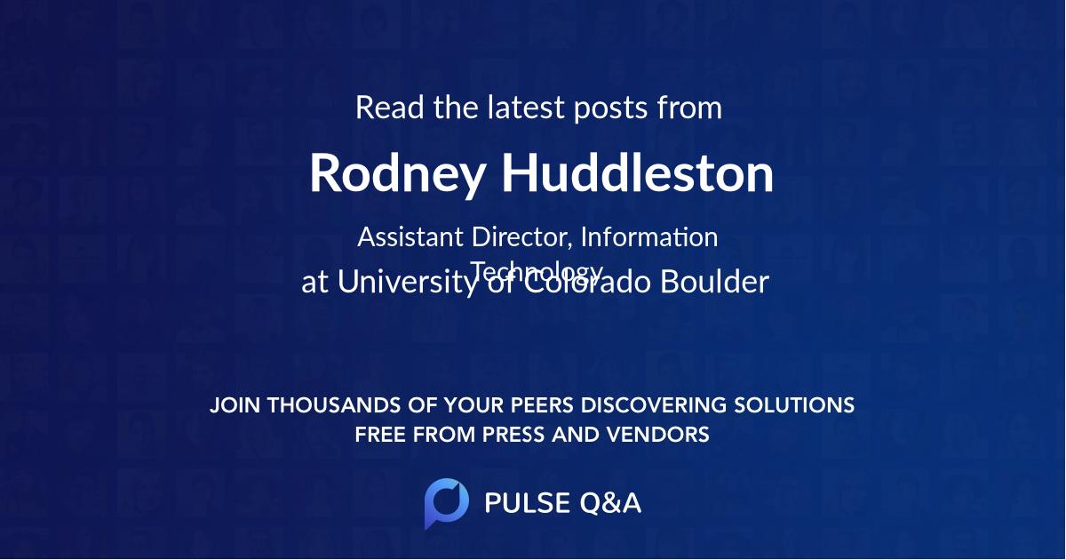 Rodney Huddleston