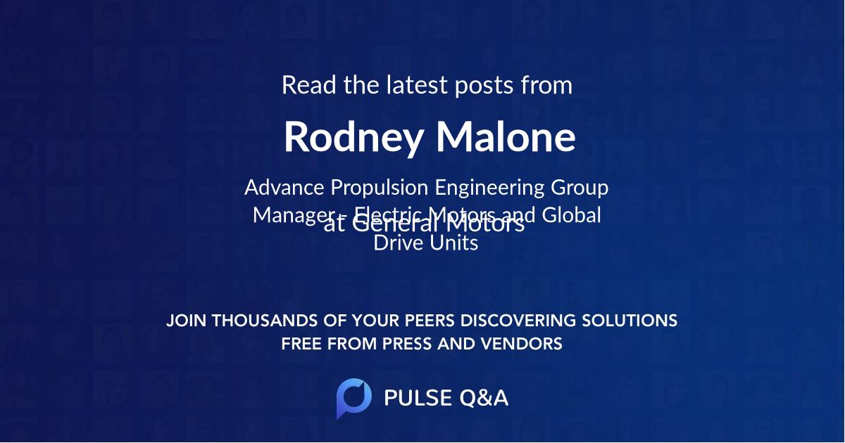 Rodney Malone
