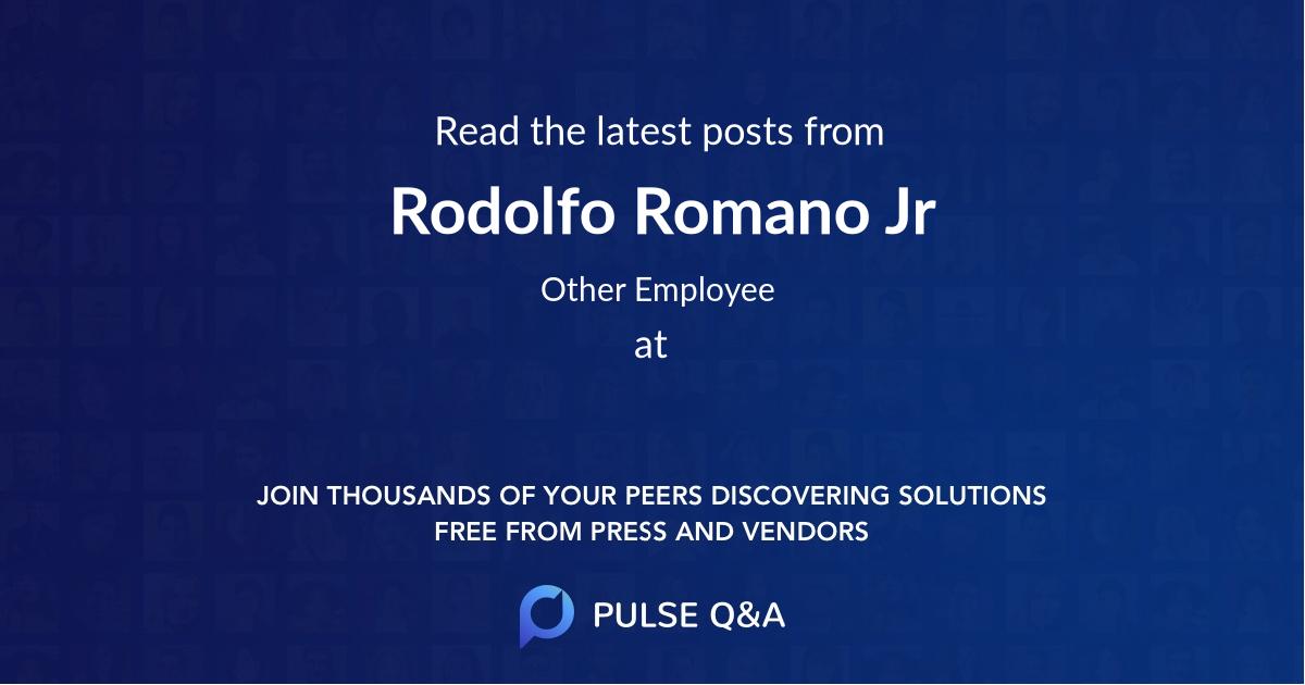 Rodolfo Romano Jr