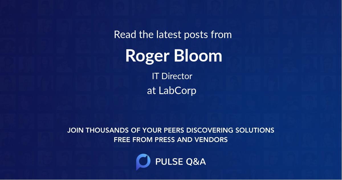Roger Bloom