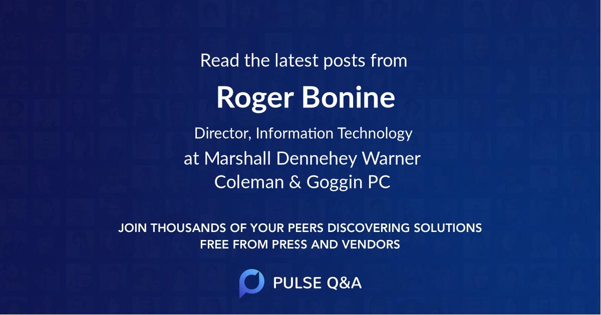 Roger Bonine