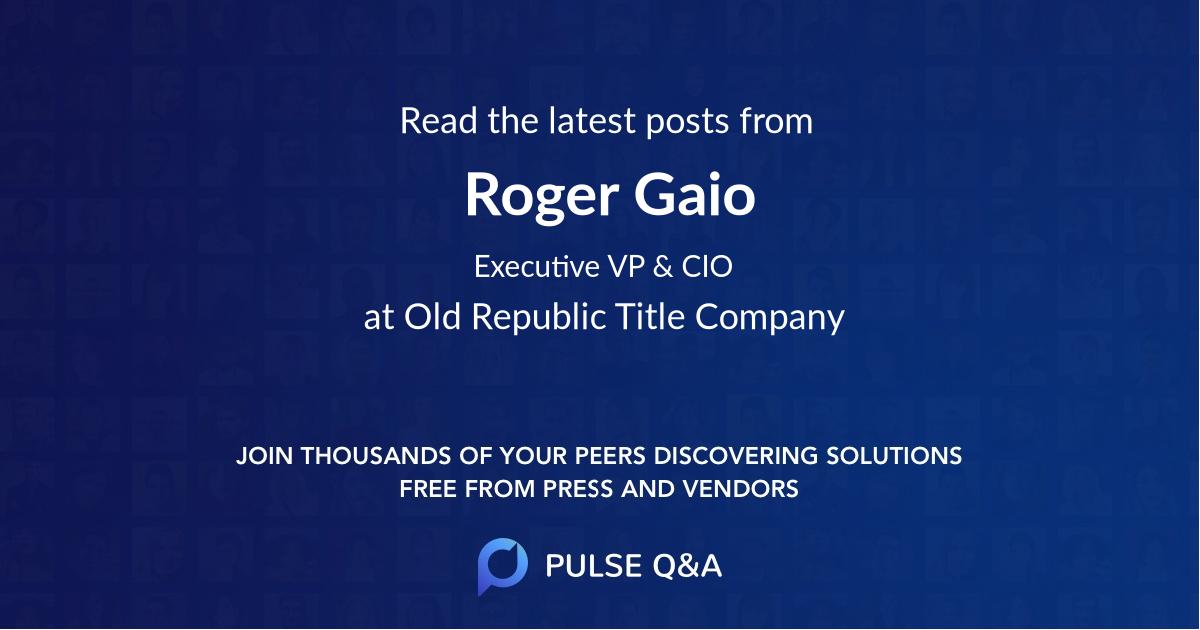 Roger Gaio
