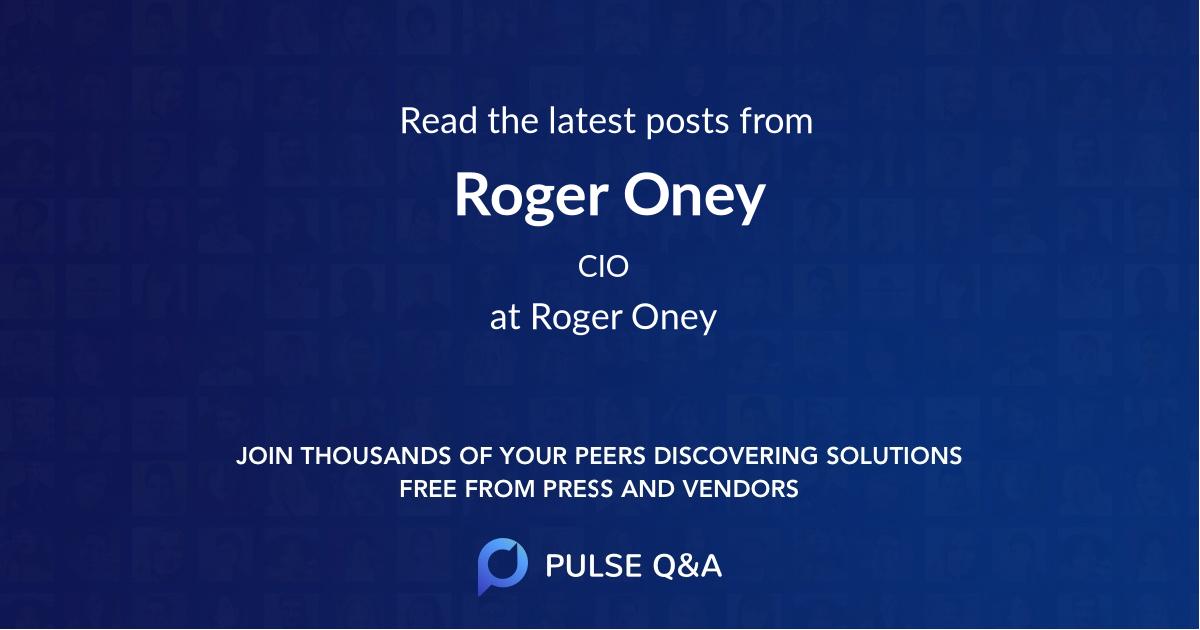 Roger Oney