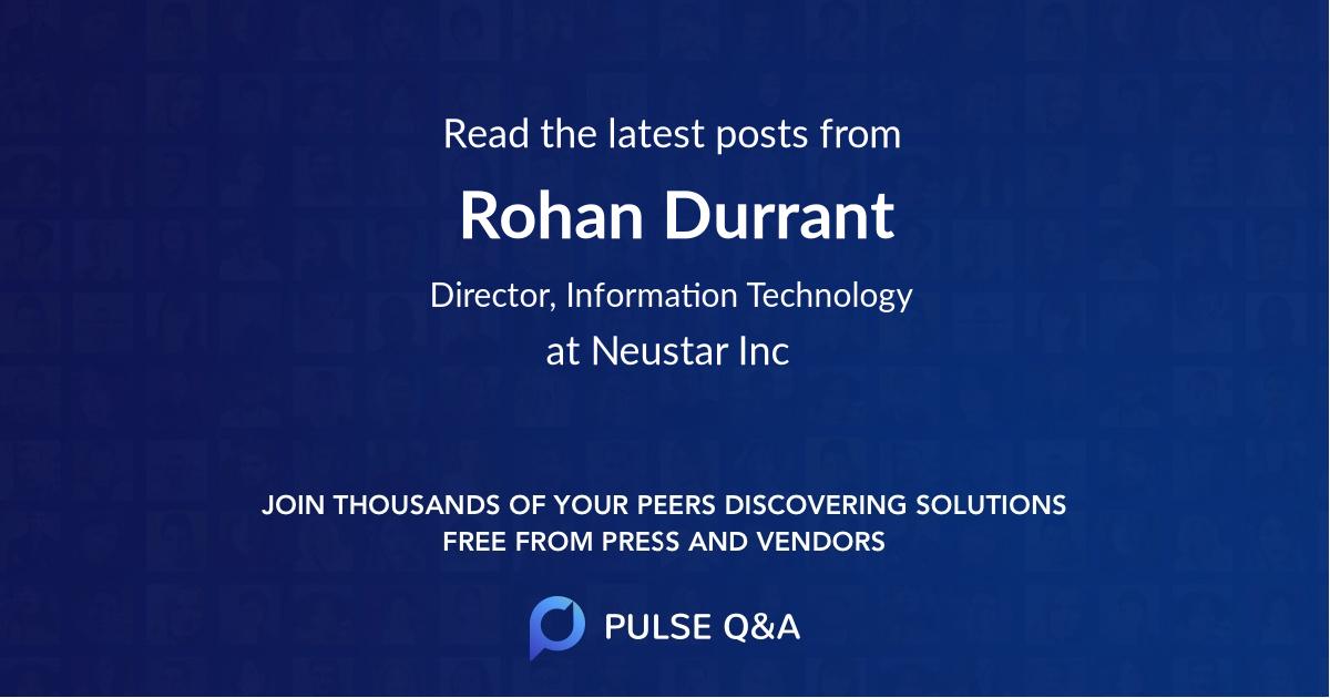 Rohan Durrant