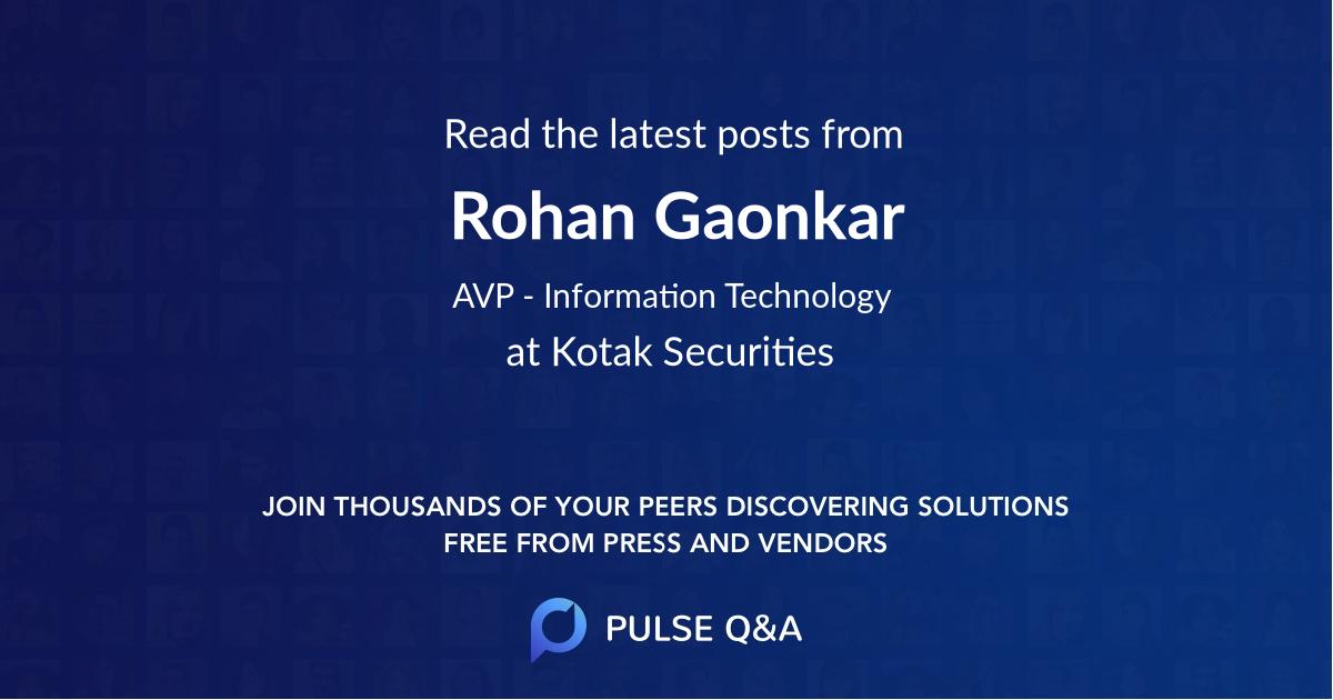 Rohan Gaonkar