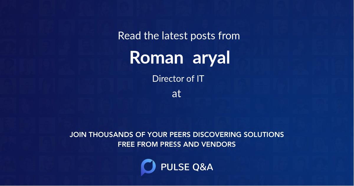 Roman  aryal