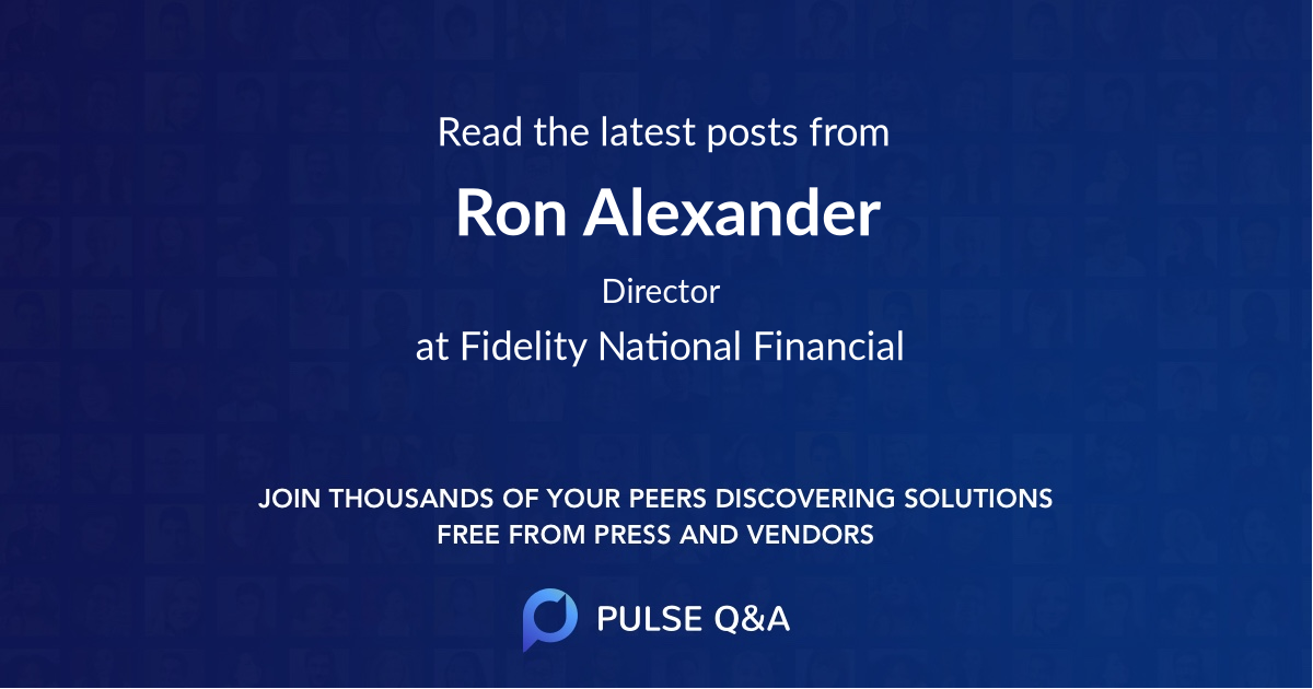 Ron Alexander