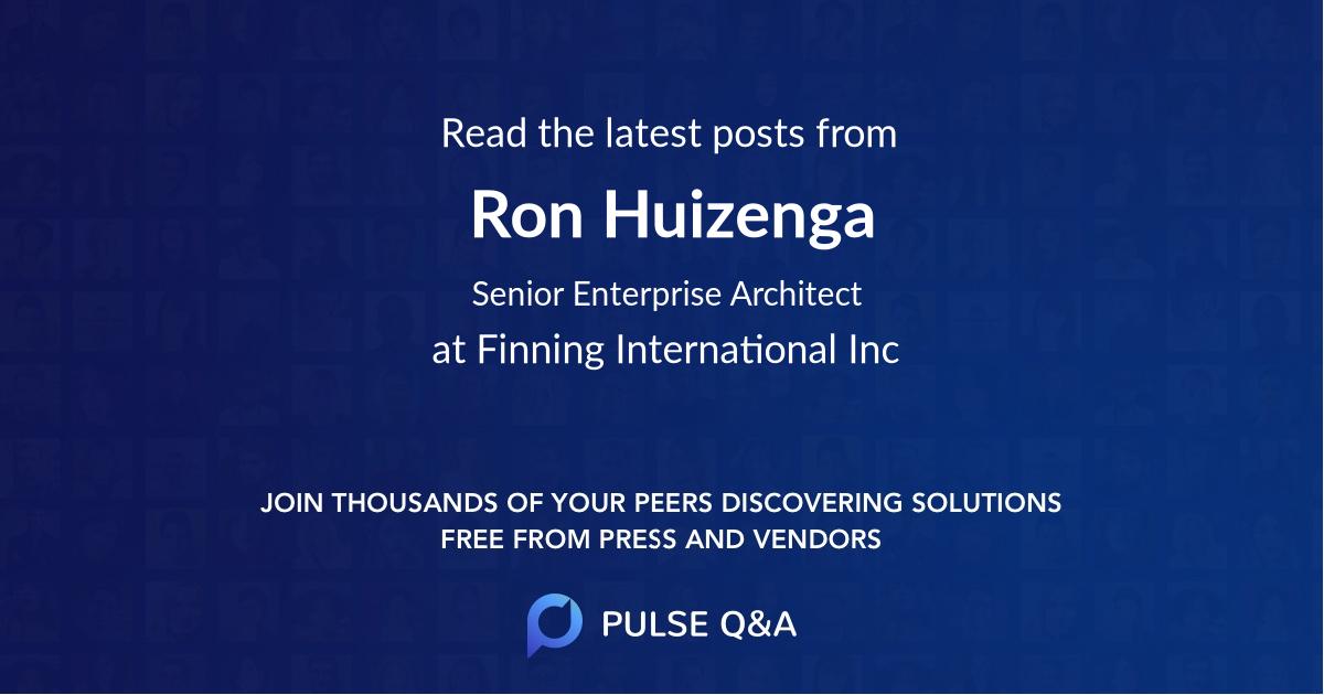 Ron Huizenga
