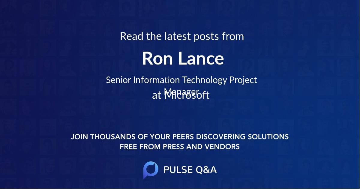 Ron Lance