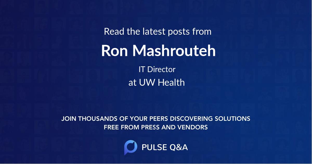 Ron Mashrouteh