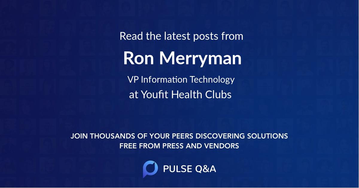 Ron Merryman