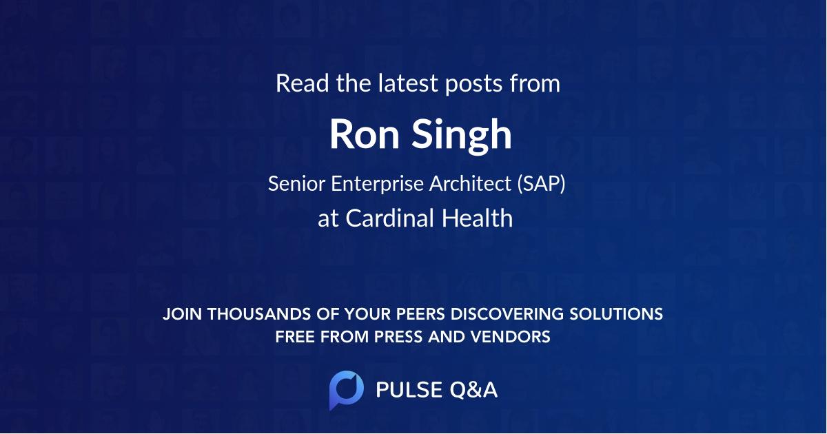 Ron Singh