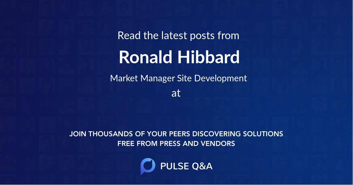 Ronald Hibbard