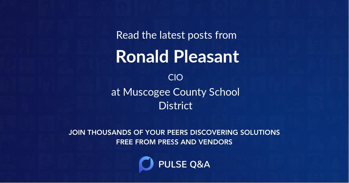 Ronald Pleasant