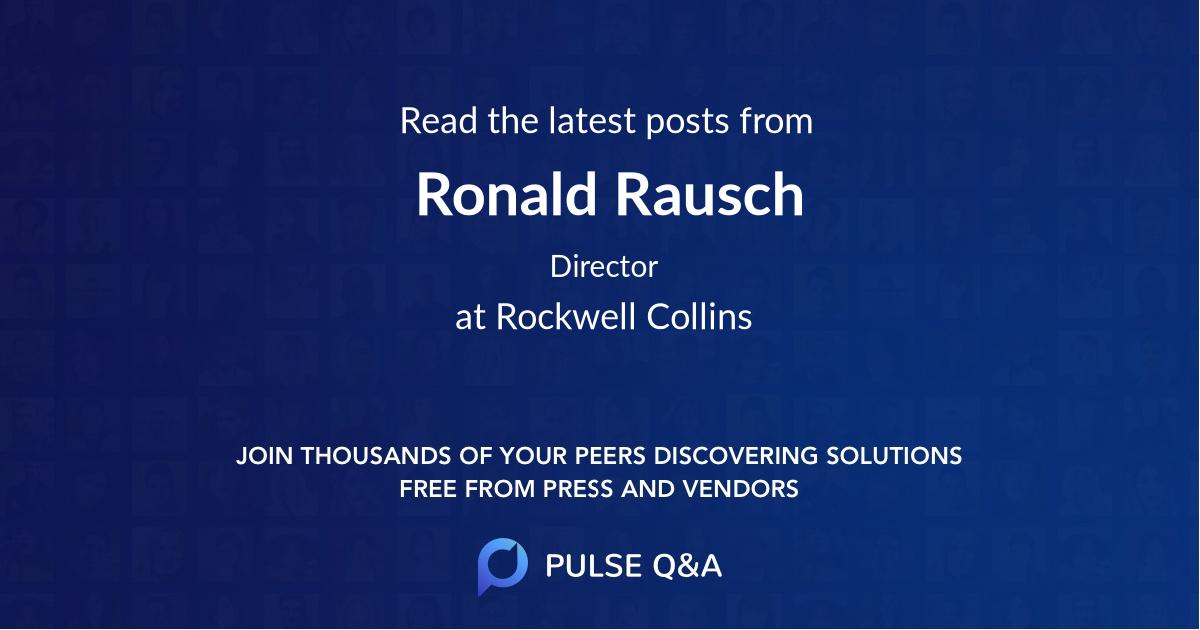Ronald Rausch