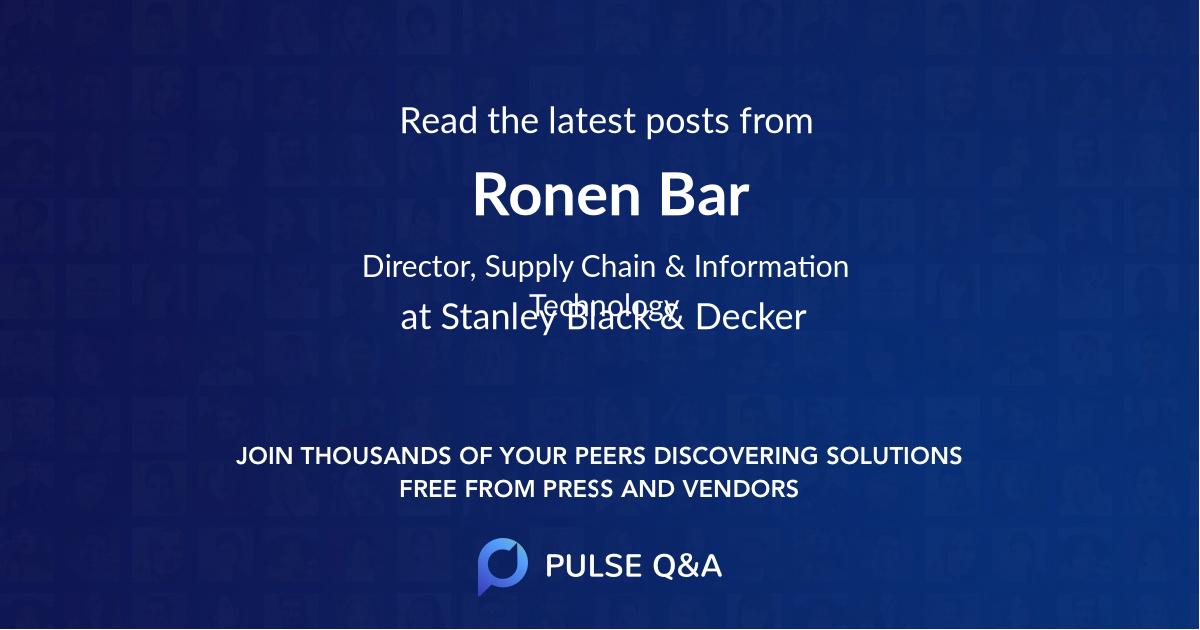 Ronen Bar