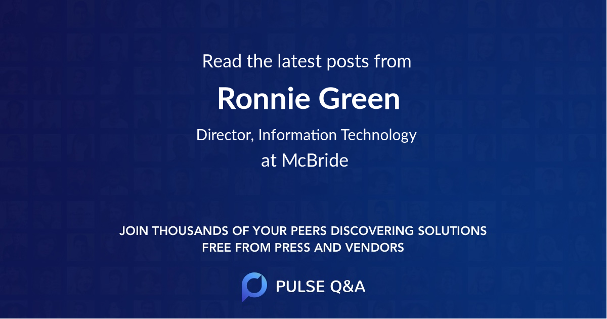 Ronnie Green