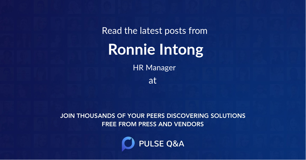 Ronnie Intong